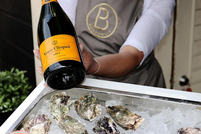 Boardwalk Oyster Bar pair with Veuve Cliquot